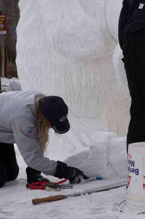 Breckenridge, Colorado  01/26/2013- Ice Sculpture Competition  Stock Photo - 17838104