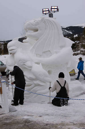 Breckenridge, Colorado  01262013- Ice Sculpture Competition Singapore