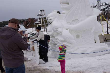 ice sculpture: Breckenridge, Colorado  01262013- Ice Sculpture Competition Singapore Editorial