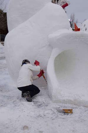 Breckenridge, Colorado 01/26/2013- Ice Sculpture Competition Argentine Banque d'images - 17838451
