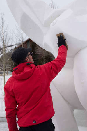 smoother: Breckenridge, Colorado  01262013- Ice Sculpture Competition Catalonia Editorial