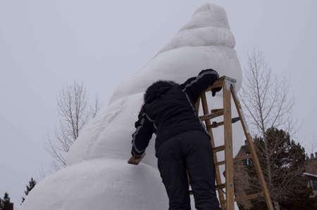 Breckenridge, Colorado 01/26/2013- Ice Sculpture Competition Argentine Banque d'images - 17838426