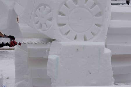 Breckenridge, Colorado 01/26/2013- Ice Sculpture Competition Mexique Banque d'images - 17838382