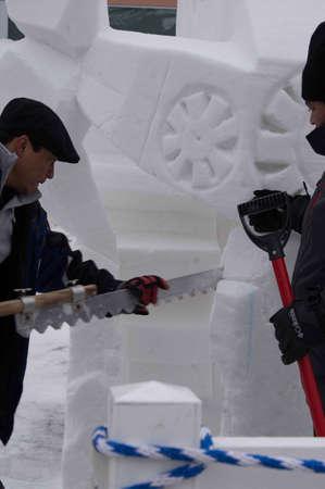 Breckenridge, Colorado  01/26/2013- Ice Sculpture Competition Mexico Stock Photo - 17838418