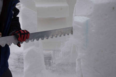 Breckenridge, Colorado 01/26/2013- Ice Sculpture Competition Mexique Banque d'images - 17838385