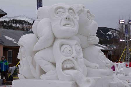 ice sculpture: Breckenridge, Colorado  01262013- Ice Sculpture Competition Great Britain, Wales