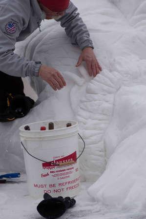 ice sculpture: Breckenridge, Colorado  01262013- Ice Sculpture Competition Canada Yukon Editorial