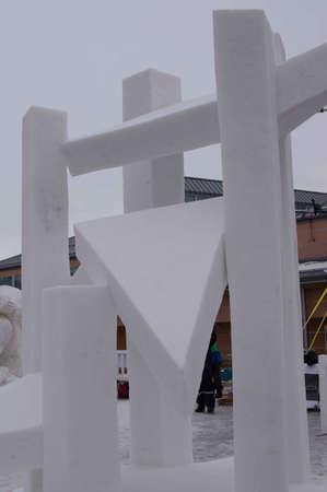 Breckenridge, Colorado 01/26/2013- Ice Sculpture Competition étoiles Allemagne Banque d'images - 17838377
