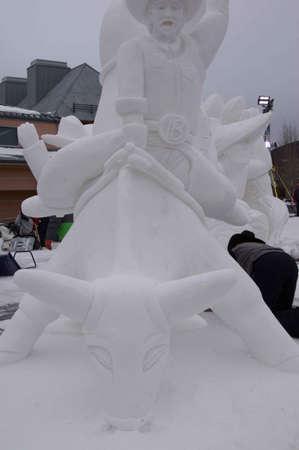 ice sculpture: Breckenridge, Colorado  01262013- Ice Sculpture Competition USA Breckenridge