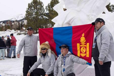 ice sculpture: Breckenridge, Colorado  01262013- Ice Sculpture Competition Mongolia - Mongolian Warriors Editorial