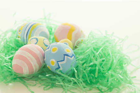 Easter Eggs on Green Grass photo