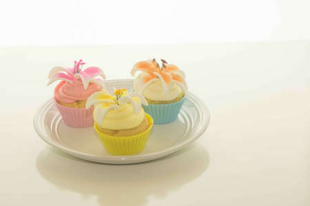 Easter Cupcakes On A Plate Stock Photo - 17743983