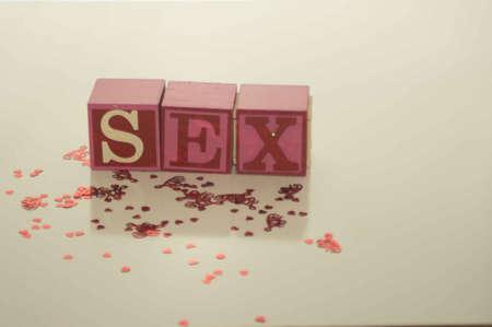 Valentines Day Sex Blocks Stock fotó