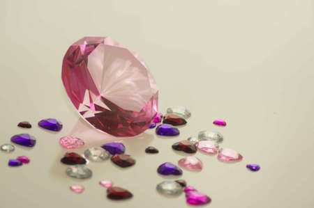 Valentine s Day Gem Hearts with Large Pink Diamond