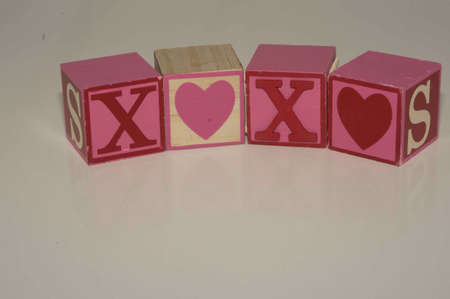 Valentine s Day XOXO Blocks Stock Photo - 17744082