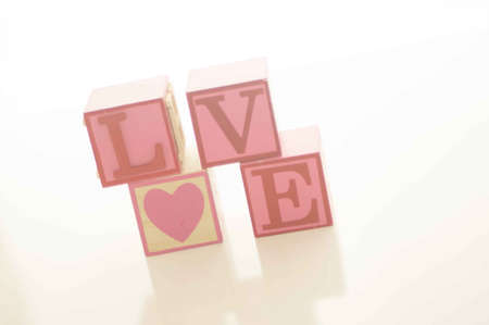 Valentine s Day Love Blocks Stock Photo - 17744074
