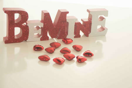 Be Mine With Valentine s Day Red Hearts