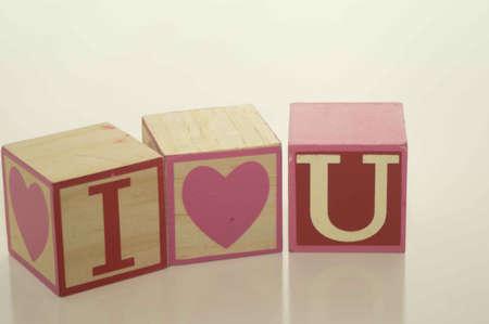 Valentine s Day I Love U Blocks