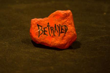 Emotion Rock - Betrayed Stock Photo