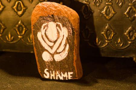 Emotion Rock- Shame Stock Photo - 18024843