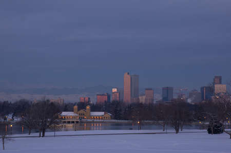 Downtown Denver Skyline Before Sunrise Stock Photo - 18082730