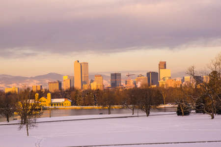 Downtown Denver Skyline at Sunrise photo