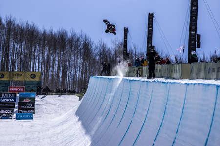 Vail, Co. - February 28, 2013 - Burton US Open Snowboarding Championship Half Pipe Ayumu Hirano