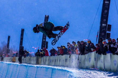 Vail, Co. - February 28, 2013 - Burton US Open Snowboarding Championship Half Pipe Eiju Hirano Editorial