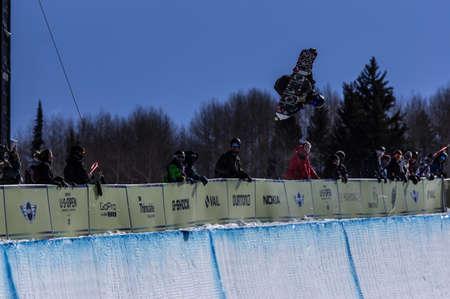 Vail, Co. - February 28, 2013 - Burton US Open Snowboarding Championship Half Pipe Ryan Wachendorfer