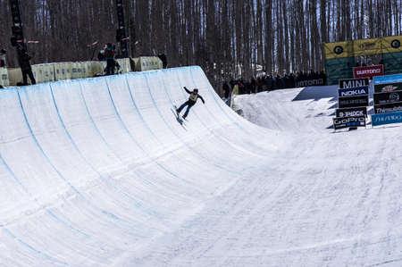 Vail, Co. - February 28, 2013 - Burton US Open Snowboarding Championship Half Pipe Paul Brichta