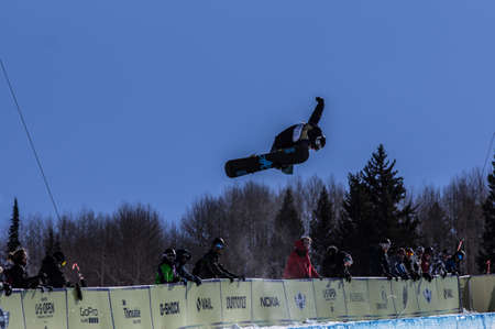 anon: Vail, Co. - February 28, 2013 - Burton US Open Snowboarding Championship Half Pipe Fredrik Austbo