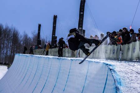 Vail, Co. - February 28, 2013 - Burton US Open Snowboarding Championship Half Pipe Fredrik Austbo