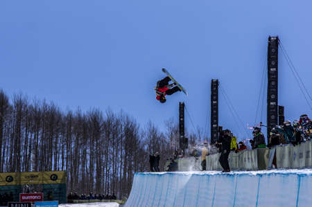 Vail, Co. - February 28, 2013 - Burton US Open Snowboarding Championship Half Pipe Joseph Mensch