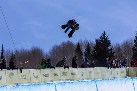 Vail, Co. - February 28, 2013 - Burton US Open Snowboarding Championship Half Pipe Taylor Gold