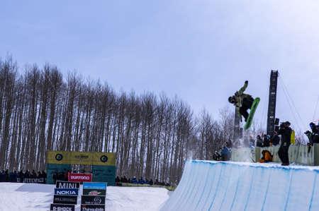anon: Vail, Co. - February 28, 2013 - Burton US Open Snowboarding Championship Half Pipe Brett Esser Editorial