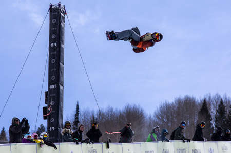 anon: Vail, Co. - February 28, 2013 - Burton US Open Snowboarding Championship Half Pipe Jan Sherrer