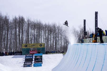 anon: Vail, Co. - February 28, 2013 - Burton US Open Snowboarding Championship Half Pipe Markus Malin