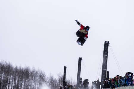anon: Vail, Co. - February 28, 2013 - Burton US Open Snowboarding Championship Half Pipe Scotty Lago Editorial