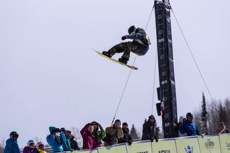 anon: Vail, Co. - February 28, 2013 - Burton US Open Snowboarding Championship Half Pipe Iouri Podladtchikov Editorial