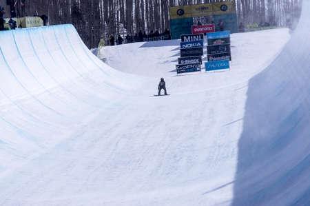 anon: Vail, Co. - February 28, 2013 - Burton US Open Snowboarding Championship Half Pipe Nikolas Baden Editorial