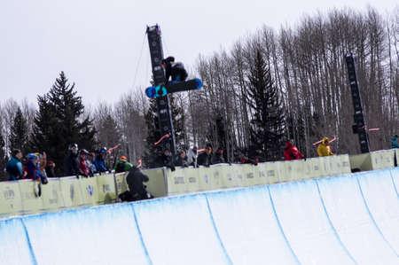 anon: Vail, Co. - February 28, 2013 - Burton US Open Snowboarding Championship Half Pipe Paul Brichta