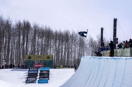 Vail, Co. - February 28, 2013 - Burton US Open Snowboarding Championship Half Pipe Roger Kleivdal