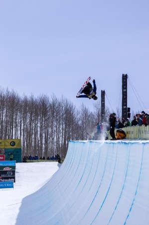 anon: Vail, Co. - February 28, 2013 - Burton US Open Snowboarding Championship Half Pipe Taylor Gold