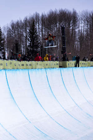 anon: Vail, Co. - February 28, 2013 - Burton US Open Snowboarding Championship Half Pipe Luke Mitrani Editorial