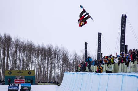 anon: Vail, Co. - February 28, 2013 - Burton US Open Snowboarding Championship Half Pipe Luke Staveley