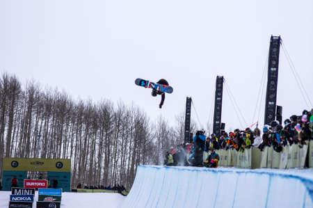anon: Vail, Co. - February 28, 2013 - Burton US Open Snowboarding Championship Half Pipe Kyle Mack