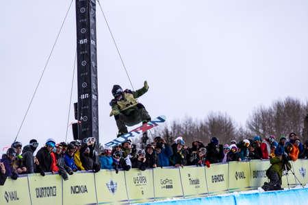 anon: Vail, Co. - February 28, 2013 - Burton US Open Snowboarding Championship Half Pipe Christian Haller Editorial