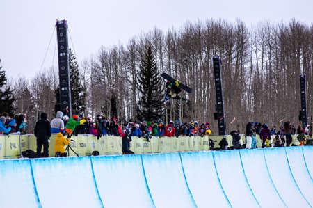 Vail, Co. - February 28, 2013 - Burton US Open Snowboarding Championship Half Pipe Louie Vito