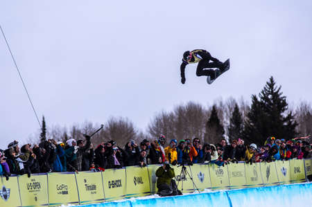 Vail, Co. - February 28, 2013 - Burton US Open Snowboarding Championship Half Pipe Shaun White