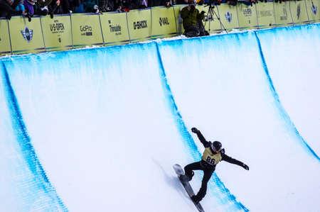 Vail, Co. - February 28, 2013 - Burton US Open Snowboarding Championship Half Pipe Shaun White Editorial